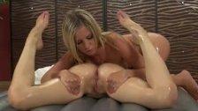 Lesbian babes hot pussy massage