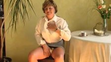 Sexy grandma pussy with dildo