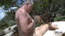 Tina bLade tricks old man for sex