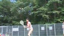 Asian dolls playing tennis