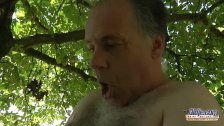 Horny old guy pleased by an angel