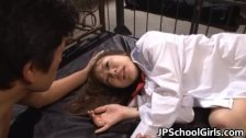 Cute school girl Rin Momoka hardcore