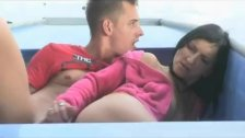 Slut is fucked in the boat