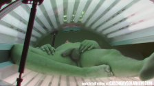Secret footage of two spy cameras in solarium