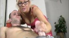 Hot blonde babe gets blasted