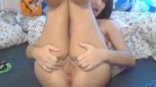 Cute Brunette masturbating