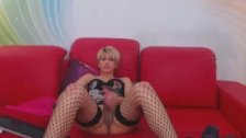 Gorgeous Shemale Plays her Big Hard Cock