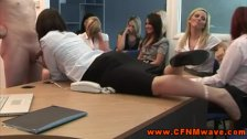 CFNM femdoms tugging and sucking