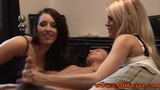 CFNM femdoms giving hot handjob