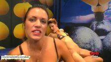 Vixens get banged on the sofa and floor
