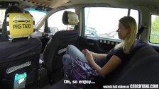 Czech Taxi - Blonde Teen gets ride of her LIF