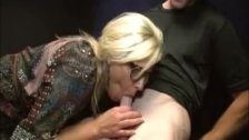 Horny Blonde Milf Cock Sucking