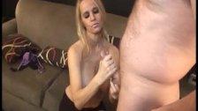 Sexy Milf Jerks Off A Naked Guy