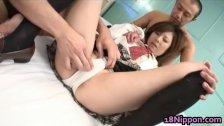 Amu Kosaka is a horny schoolgirl