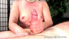Perfect handjob and cumplay