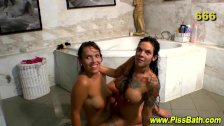 Watersports babes drench