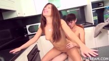 Wild and raunchy kitchen sex