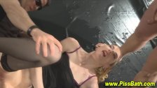 Watersports slut fucked
