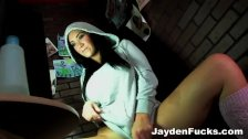 Jayden Jaymes solo jerk off booth