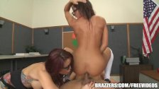 Brazzers - Madison in hot school threesome