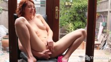Redhead cutie Kara playing with her pussy