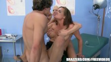 Male nurse gets punished by babes - brazzers