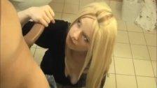 Sexy Blonde Handjob