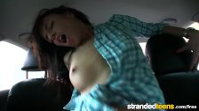 Stranded Teens - Shy Gina Devine flashes