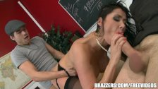 Student daydreams about Eva Karera - brazzers