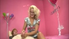 Sexy Blonde Strokes A Big Dick