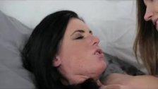 Lesbea Busty freckled gf gets orgasmic fuck
