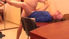 Hot anal fucking in the office