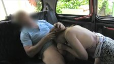FakeTaxi - Cheeky red head pays with blowjob