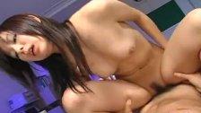 Horny slut Satomi Maeno fucked by two dudes