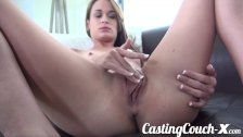 Casting Couch-X Georgia peach excited for sex