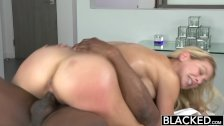 BLACKED Hot Blonde Takes Big Black Cock