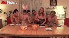 : Fun Movies German housewife gets BD ganbgang