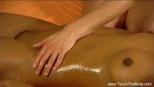 Sensual Lesbians Enjoy Massage