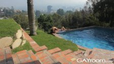 GayRoom Hot guys wet from pool and fucking