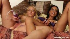 Vanessa Cage and her friend masturbate