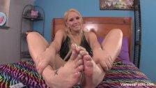 Vanessa Cage Foot Play