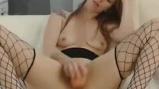 Redhead Slides her Toy inside her Pussy