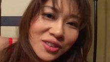Remi Matsukawa in red lingerie and getting