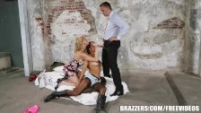 Back ally threesome with Abbey brazzers