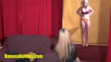 Blond hottie at the erotic CASTING