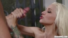 Throated Tatooed pornstar Stevie Shae gets a