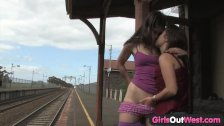 Girls Out West - Hairy and shaved lesbians