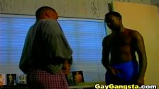 Black Gay Dude on Deep Throat Blowjob and Ana