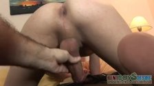 Smiley twink gets stroked and poked - duration 3:01