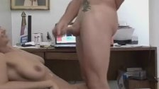 Busty Babe Interrupts The Working Man